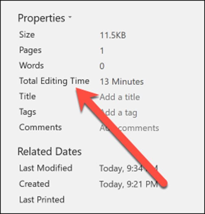 Cách biết thời gian làm việc trên Microsoft Word  - ảnh 2