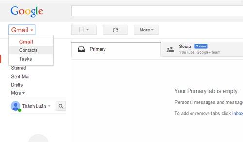 Cách khôi phục danh bạ bị xóa trong Gmail - ảnh 1